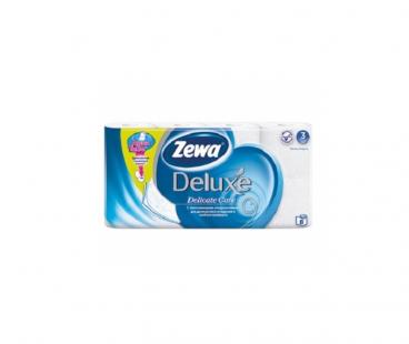 Туалетная бумага Zewa Deluxe Туалетная бумага 3-слойная белая 8шт