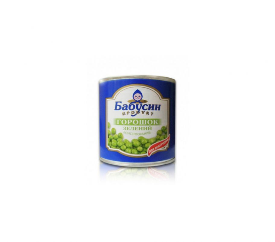 Бабусин продукт Горошек ж/б 420г