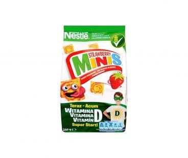 Мюсли и Сухие Завтраки Nestle Завтрак Стробери-Минис с витам/минер сухой 250г
