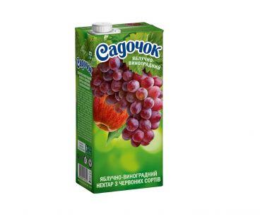Сок Садочек виноград яблоко красный т/п 950г