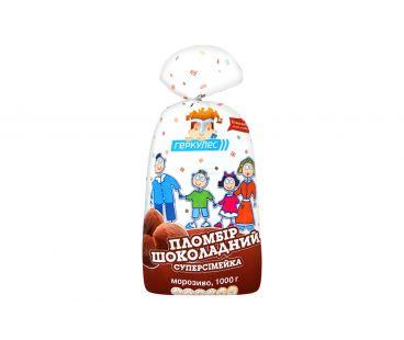 Геркулес Мороженое Суперсемейка шоколадный пломбир 1000г