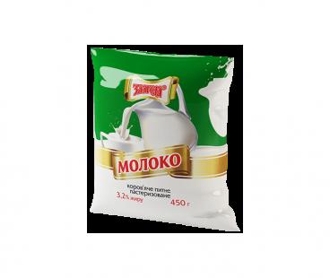 Молоко Злагода Молоко пастеризованное 3,2%, 450г