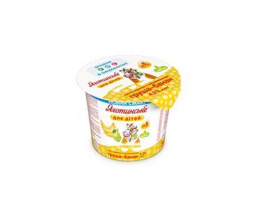 Детская молочная продукция Яготинское для детей творог груша-банан 4.2% 100г