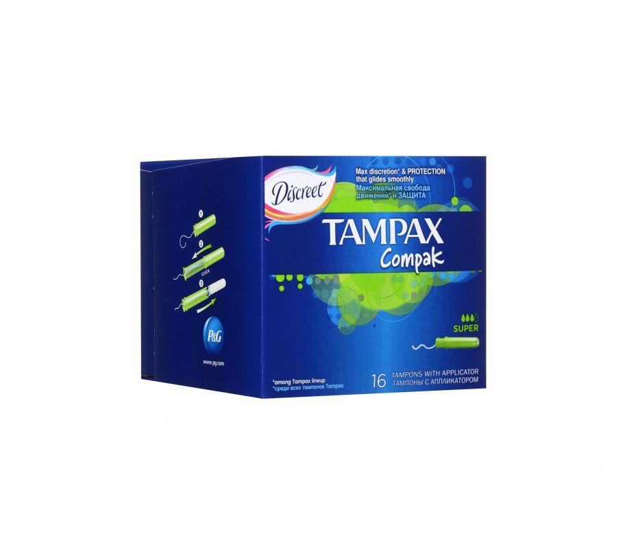 Тампон TAMPAX Compak 16шт