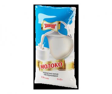 Молоко Злагода Молоко пастеризованное 2,5%, 910г