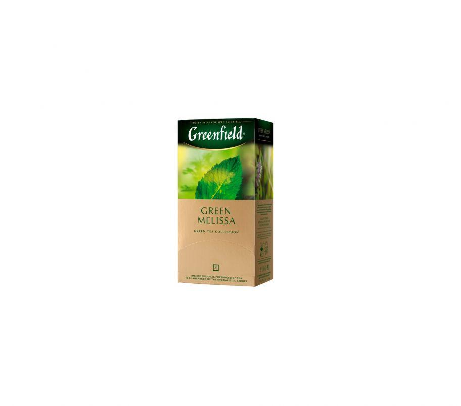 Чай зеленый пакетированный Гринфилд Greenfield Green Melissa 25 x 1.5 г