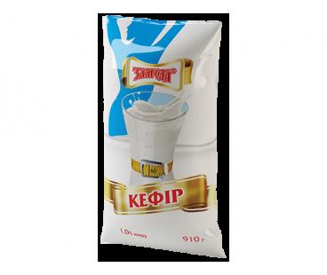 Кисломолочные продукты Злагода Кефир 1%, 910г
