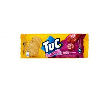 Tuc Крекер соленый копченые колбаски 100г