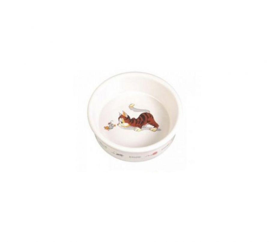 Trixie Миска для котов керамическая 0,2л*11,5см