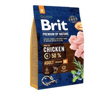 Brit Корм д/взросл собак Премиум ЭдалтS курица сух 3кг
