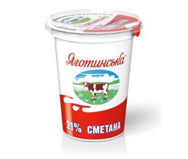 Яготинская сметана 21% стакан 350г