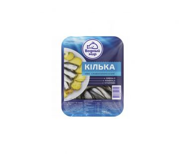 Рыба и морепродукты Водный мир Килька слабосоленая 180г