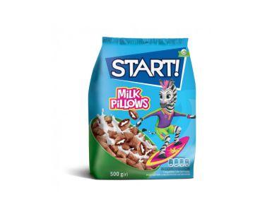 Мюсли и Сухие Завтраки START подушечки Молочной начинкой 500г