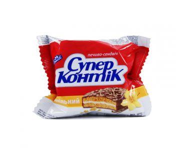 Супер-Контик печенье с шоколадно-молочной глазурью Ваниль 50г
