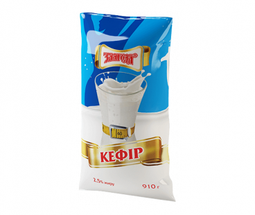Кисломолочные продукты Злагода Кефир 2,5%, 880 г