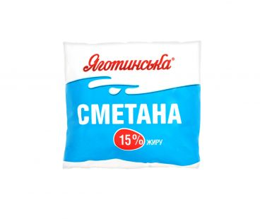 Яготинская сметана 15% п/э 400г