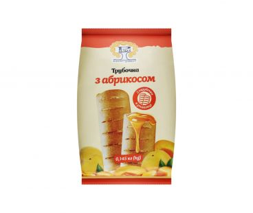 Булочки РОМА Трубочка с абрикосом 145г