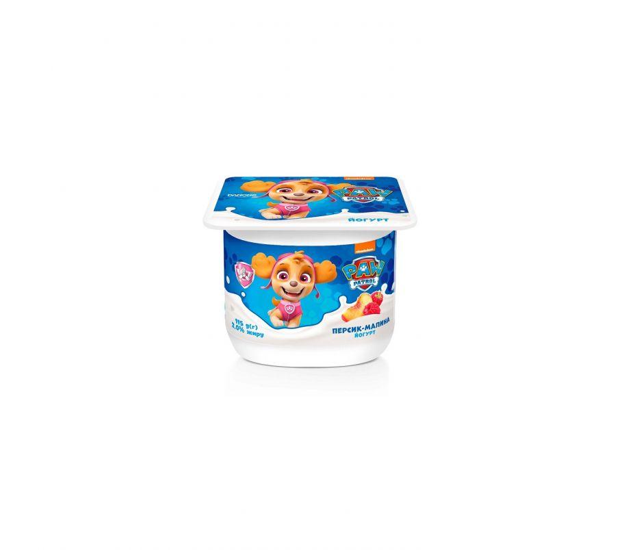 Данколекция Йогурт Персик-Малина 2% 115г