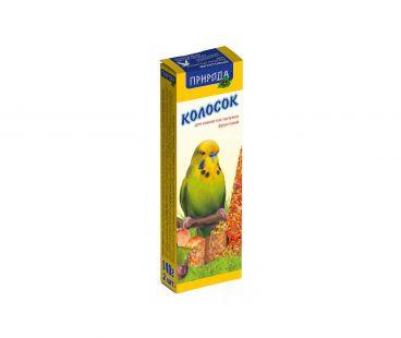 Корма для животных Природа Корм для попугаев Колосок фруктовый 140г