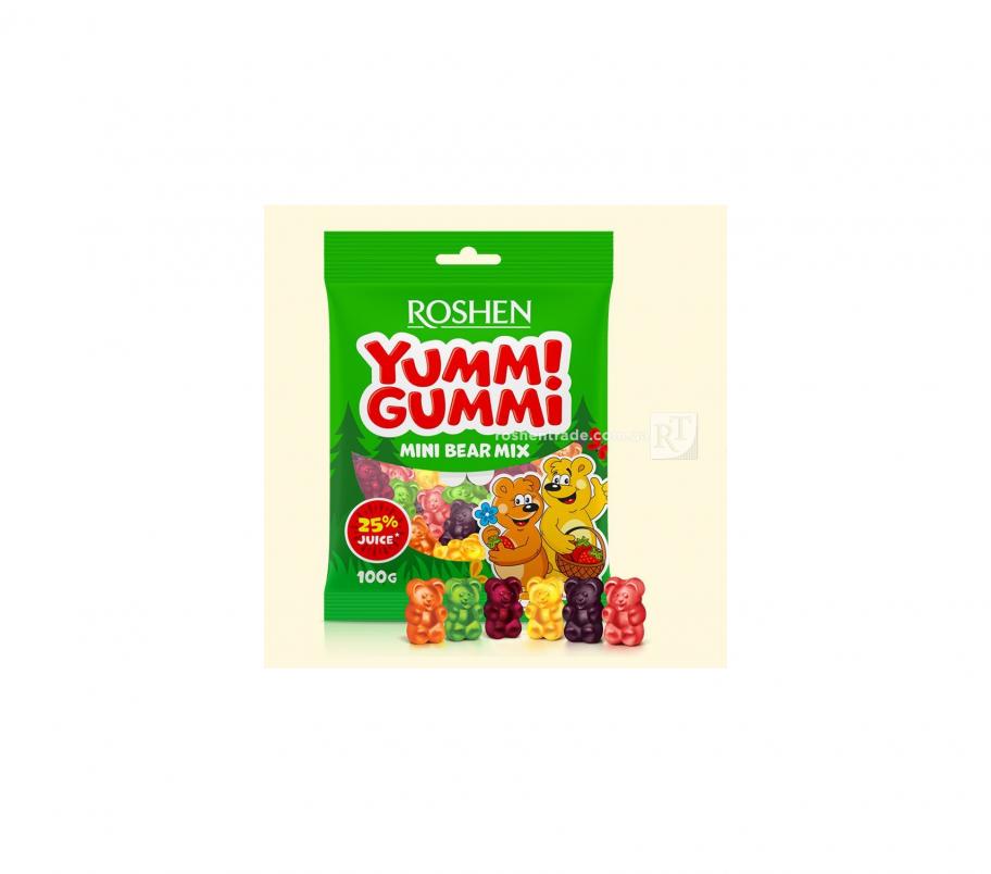 Roshen Желейные конфеты Mini Bear Mix 100г