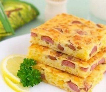 Сырная закуска с колбасой