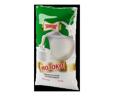 Молоко Злагода Молоко пастеризованное 3,2%, 910г