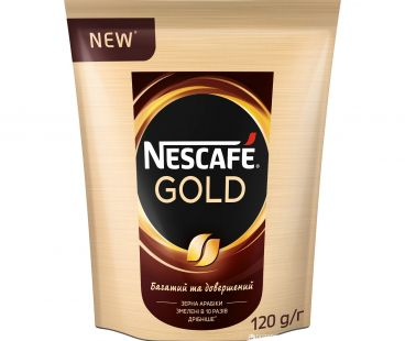 Кофе растворимый Nescafe gold пак 120 гр