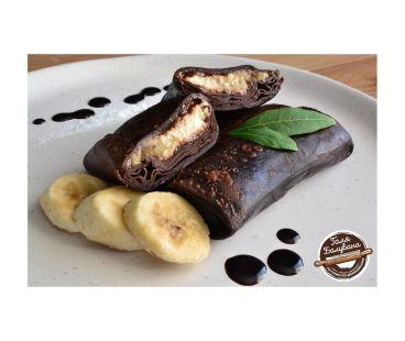 Блинчики Галя Балувана Галя Балувана Блинчики шоколадные с творогом, бананом и шоколадной пастой