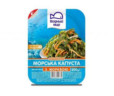 Рыба и морепродукты Водный мир Капуста морская с корейской морковкой 200г