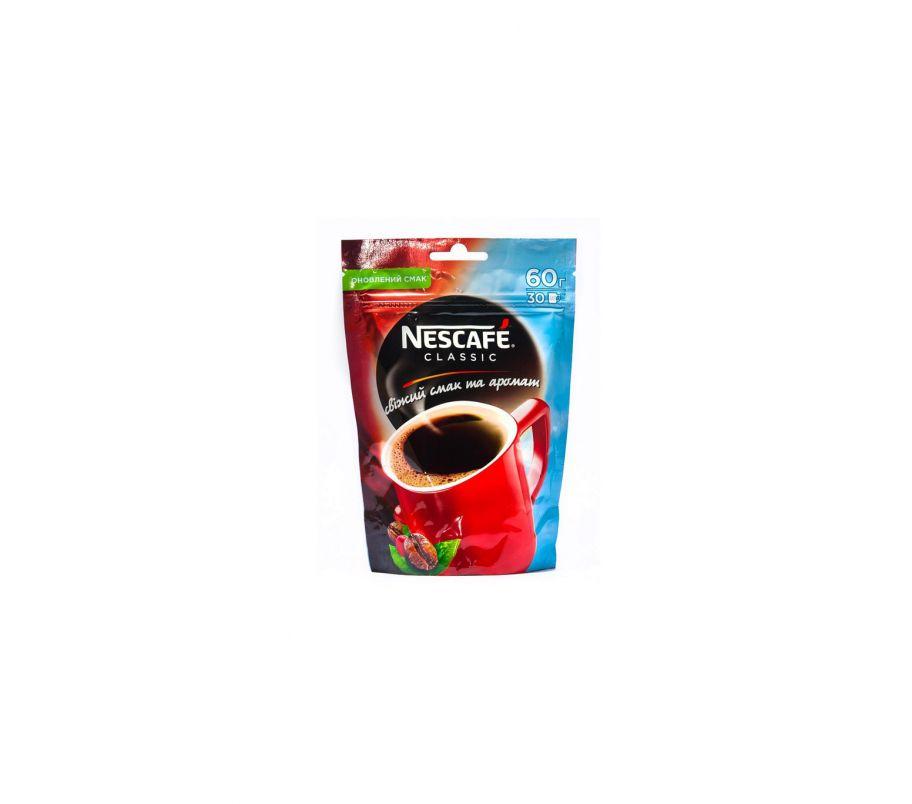 Кофе растворимый Nescafe classic пак 60 гр