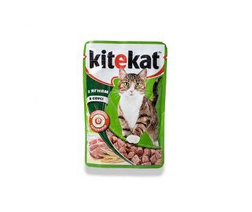 Корм для котов Kitekat с ягненком в соусе, 100 г