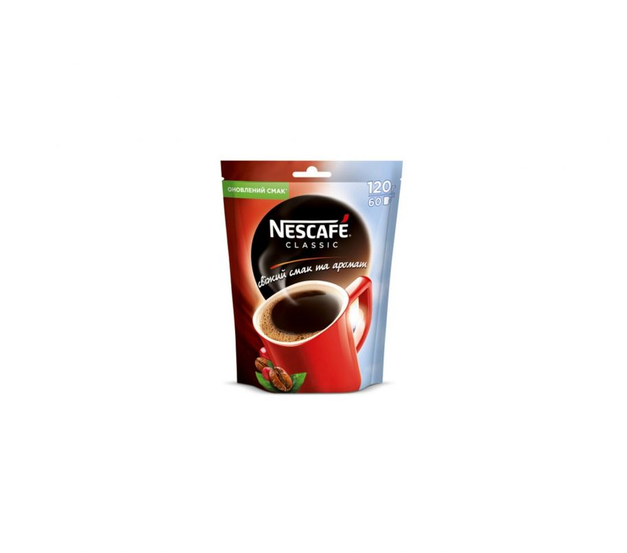 Кофе растворимый Nescafe classic пак 120 гр