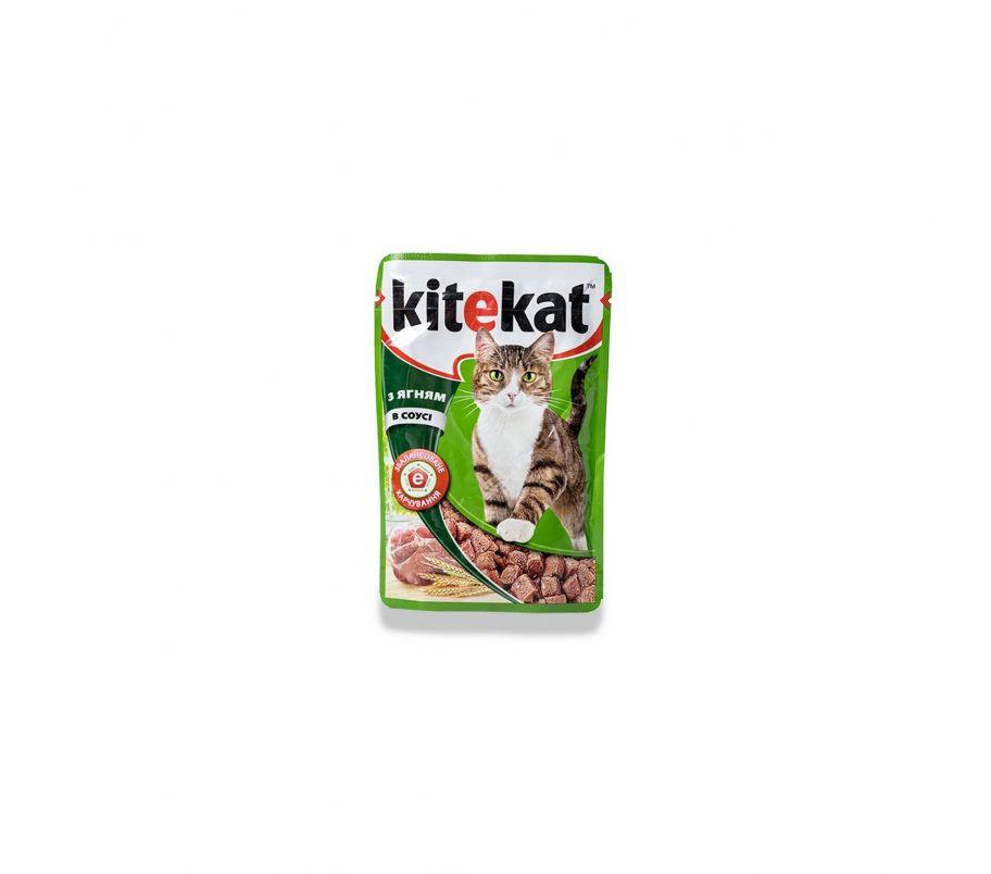 Kitekat Корм для котов с ягненком в соусе, 100 г