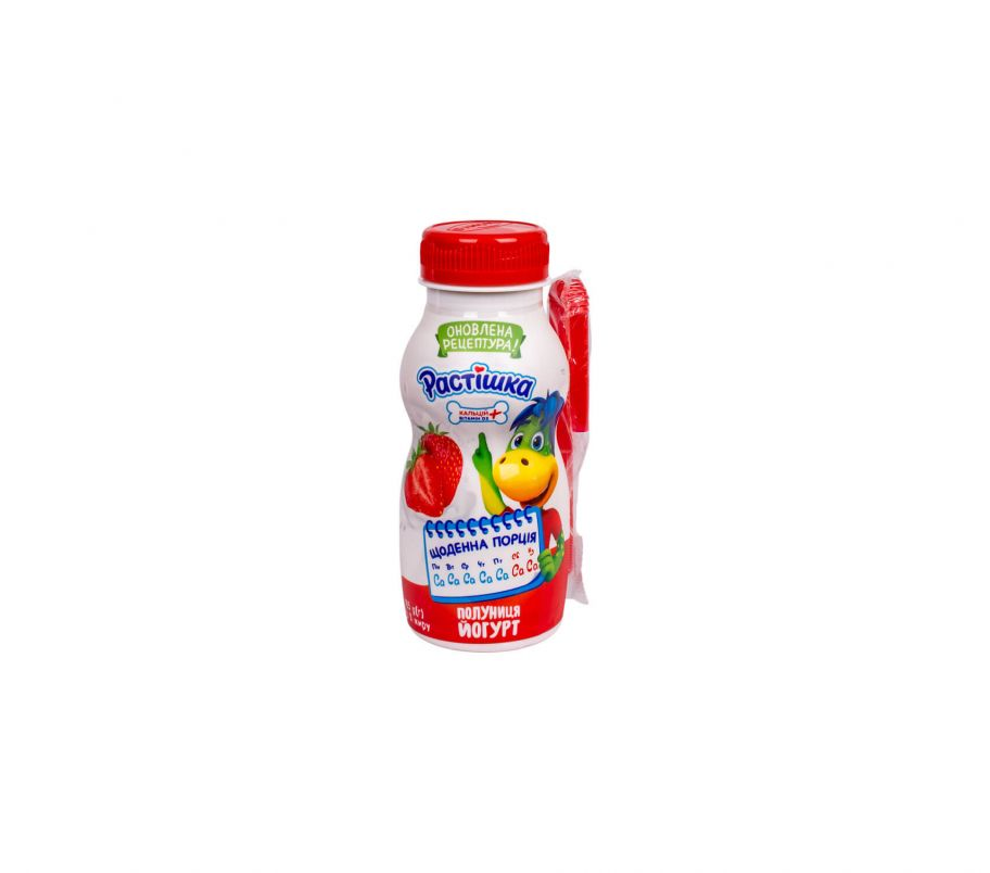 Растишка Йогурт Клубника 1.5% пэт 185г