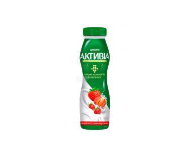 Активия Бифидойогурт 1.5% клубника-земляника  пэт 290г