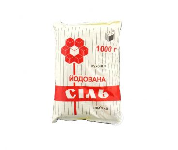 Соль, Мука, Сахар Соль йодированная 1кг