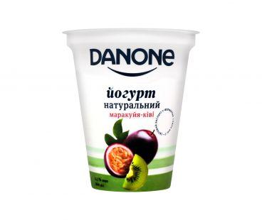 Danone йогурт натуральный маракуйя-киви 2,5% 260г