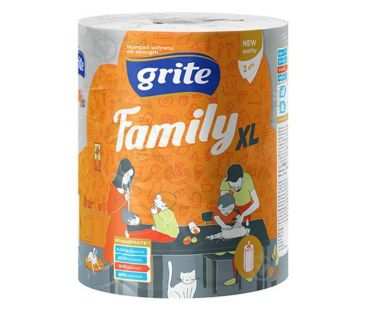 Бумажная продукция GRITE Полотенце бумажное Family XL