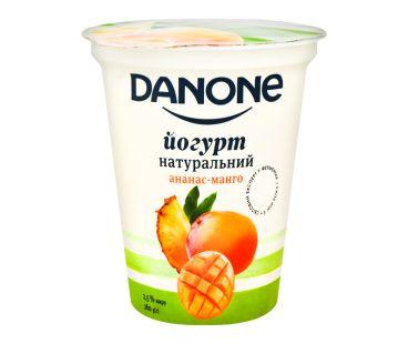 Danone йогурт натуральный ананас-манго 2,5% 260г