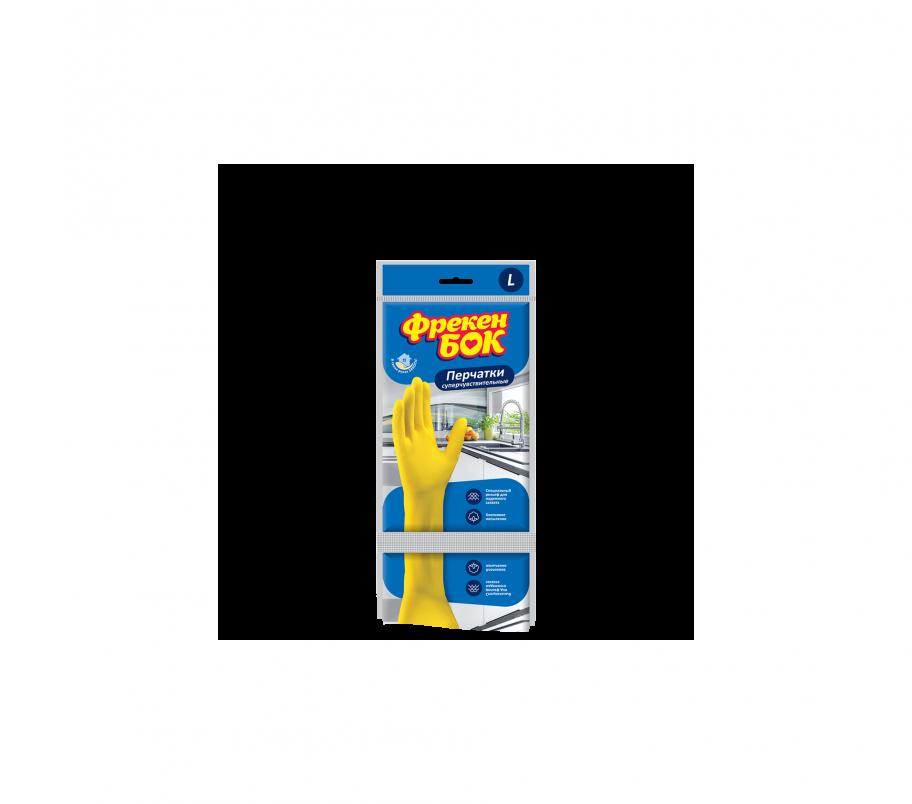 ФБ Перчатки резиновые универсальные для мытья посуды L