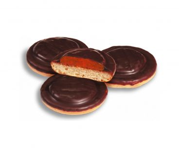 ШБ Печенье Галиция (Колобок) темная шоколадная глазурь