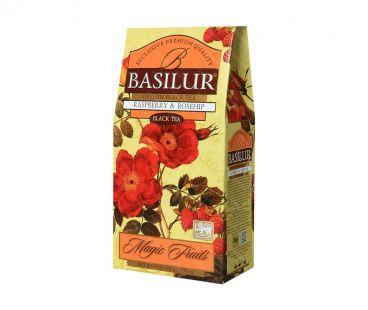 Чай черный Basilur с малиной и шиповником 100г