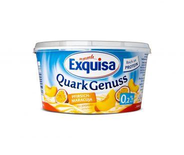 Exquisa Десерт творожный персик-маракуйя 0,2% 500г