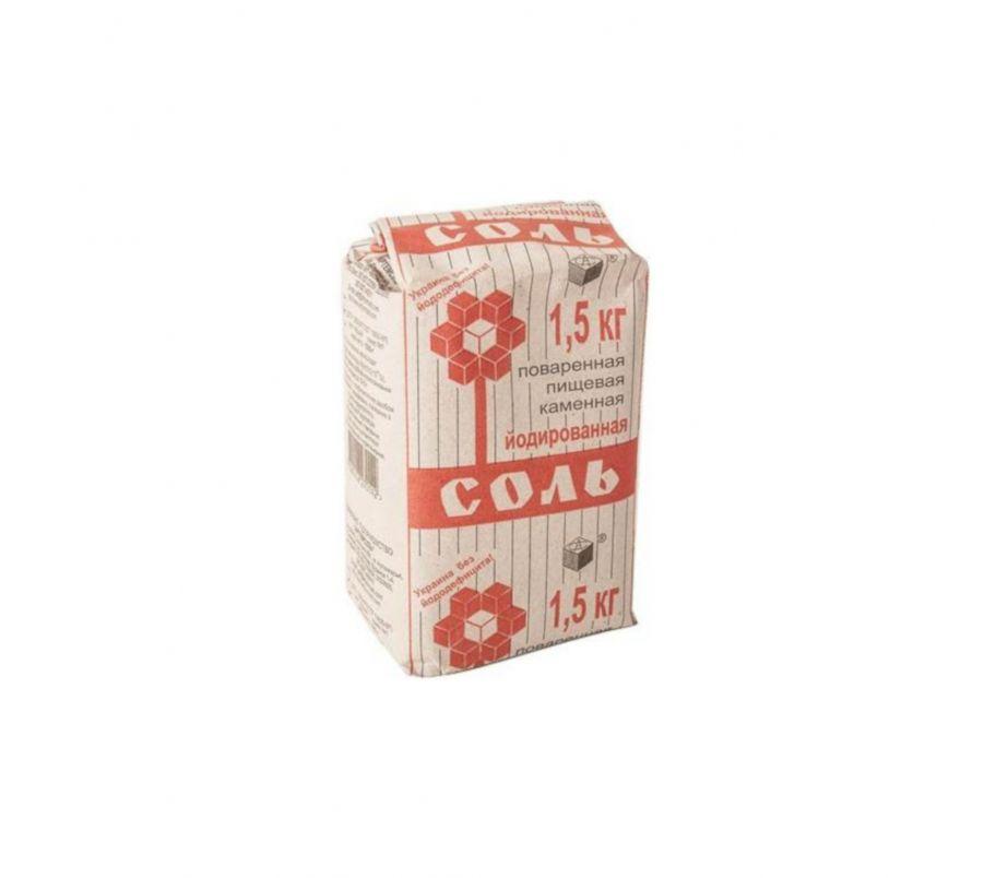 Соль йодированная 1,5 кг