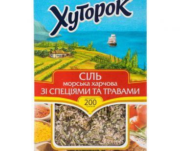 Соль, Мука, Сахар Хуторок Соль морская со специями и травами 200г