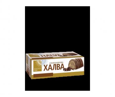 Золотой век Халва Фантазия подсолнечная в шоколадной глазури 470г