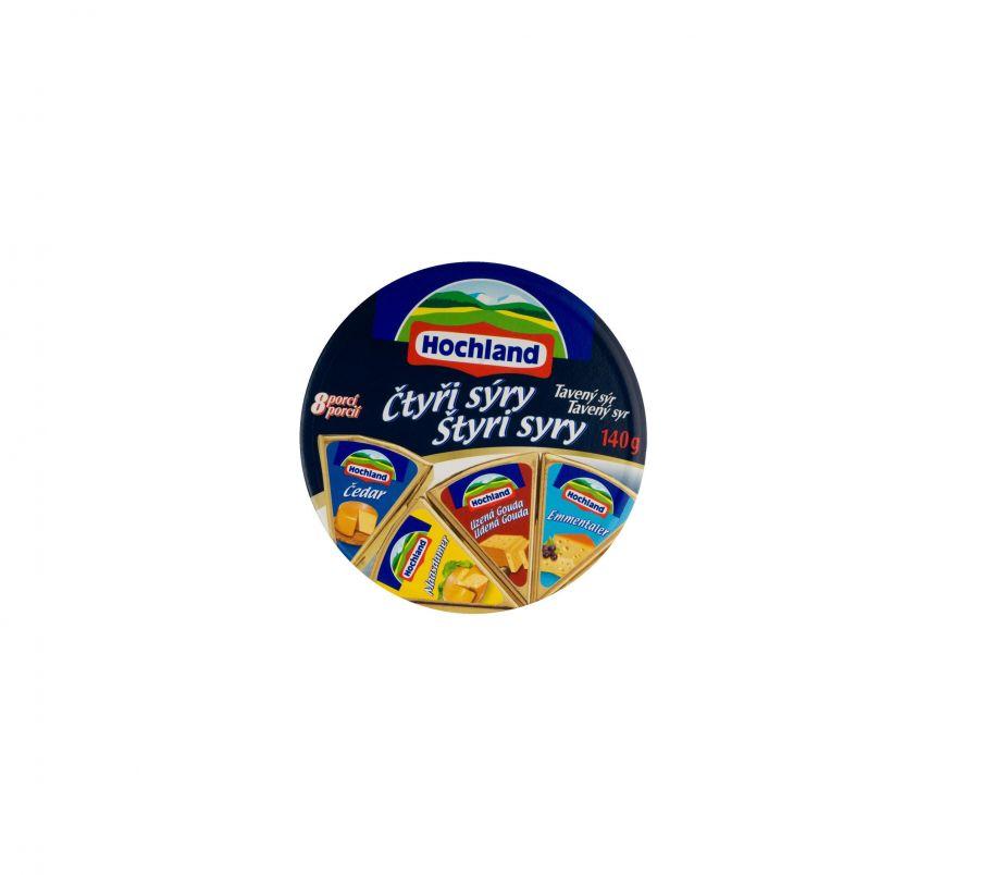 Hochland Сыр плавленый  Четыре сыра 45%140g (хохланд)