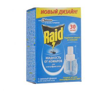 Хозтовары RAID жидкость от комаров 30 ночей
