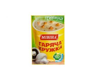 Еда быстрого приготовления Мивина Суп грибной 15 гр