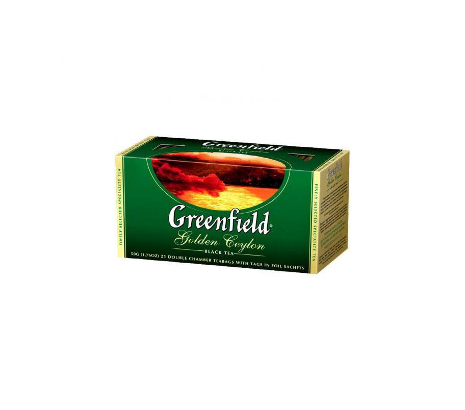 Чай черный Гринфилд Greenfield Golden Ceylon - Цейлон в пакетиках 25 шт